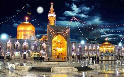 تصویری از حرم امام رضا در شهر مشهد