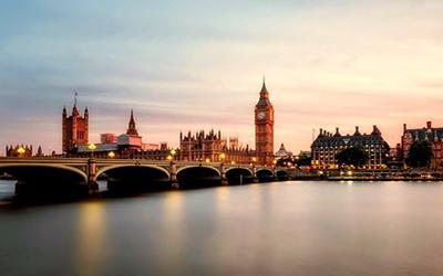 نمایی از غروب لندن