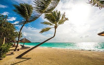 نمایی زیبا از ساحل مالدیو