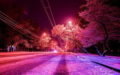 نمایی برفی از شهر مسکو
