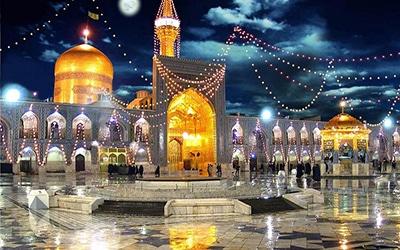 نمایی از حرم امام رضا در مشهد