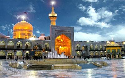 نمای زیبای زیارتگاه امام رضا در مشهد