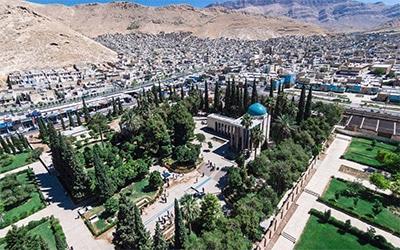 نمای شیراز از بالا