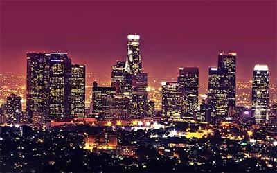 نمای زیبای لس انجلس در شب
