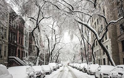 نمایی برفی از نیویورک