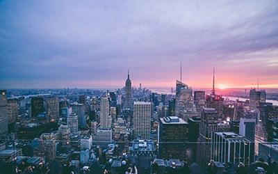 تصویری از غروب نیویورک