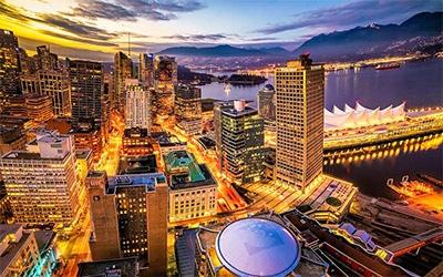 نمای جالب شهر ونکوور
