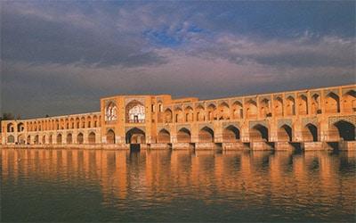 تصویر نمای پل خواجو در اصفهان