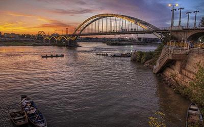 نمایی از پل کارون اهواز