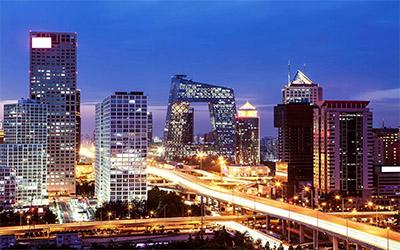 تصویری زیبا از نمای شهر پکن در کشور چین