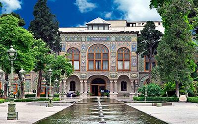 نمایی از کاخ گلستان در تهران