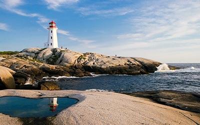 نمای ساحلی از کانادا