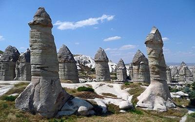 نمایی جالب در کاپاداکیا در ترکیه