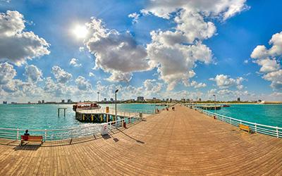 نمایی زیبا از دریای کیش