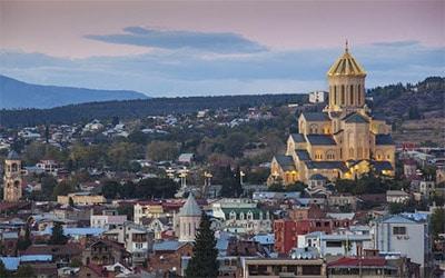 نمای شهر باتومی گرجستان در غروب