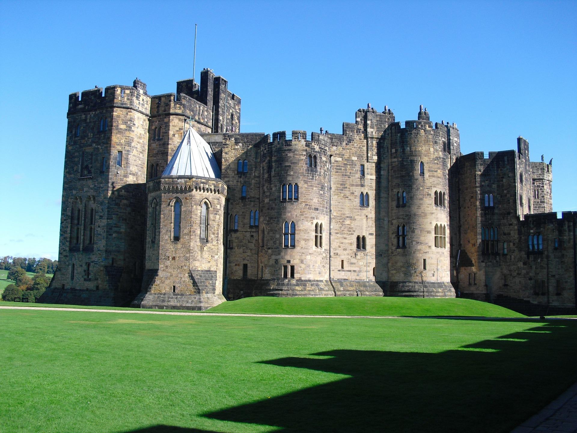 نمایی از قلعه ای در انگلیس