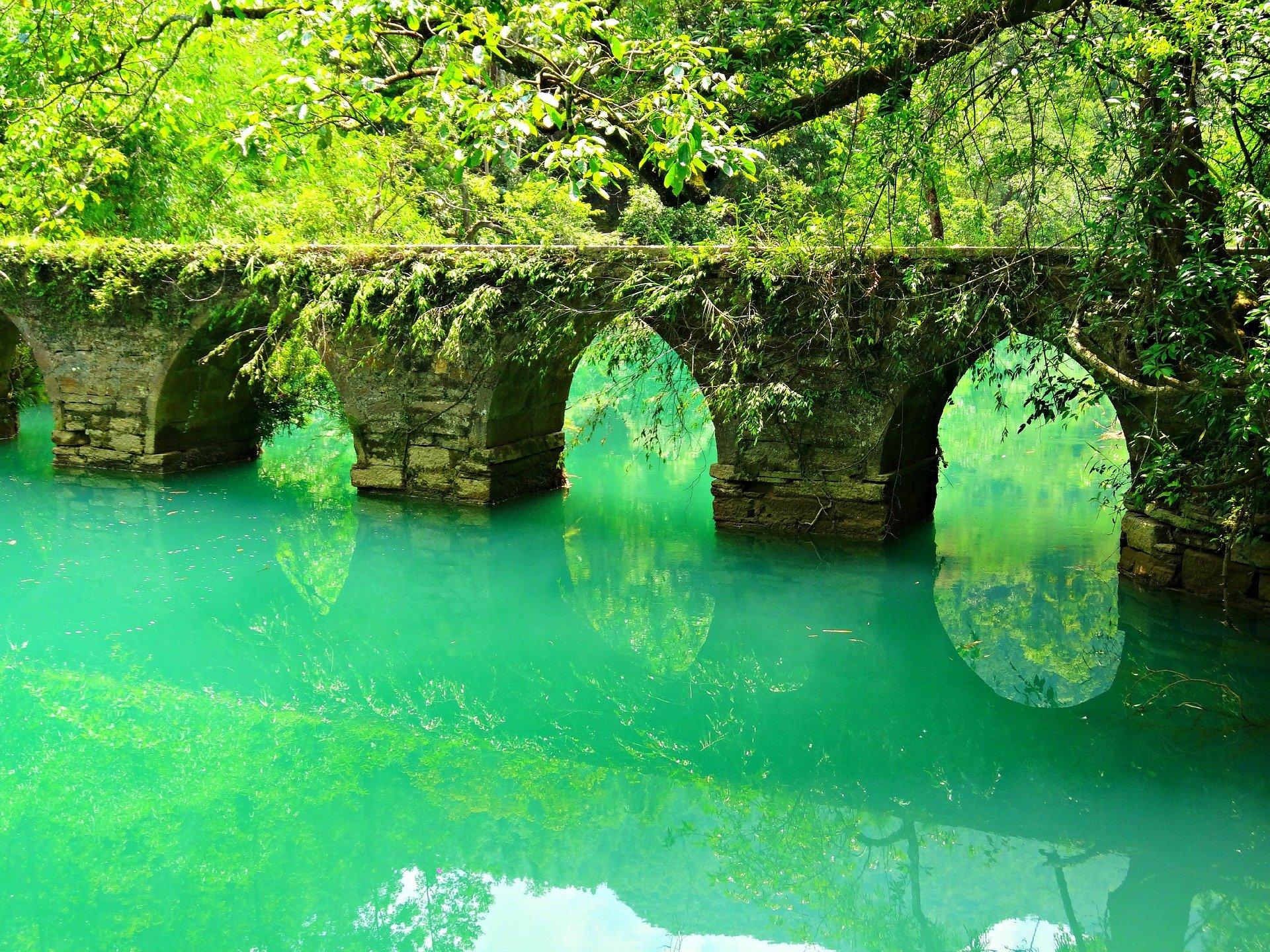 نمایی از رودخانه از زیبا در چین