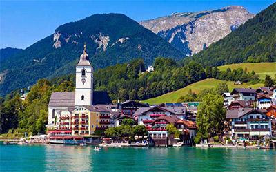 تصویری زیبا از نمای کشور اتریش