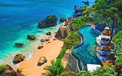 نمای جزیره بالی اندونزی از بالا