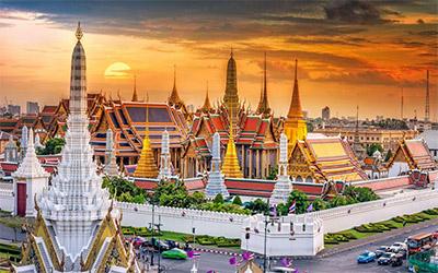 تصویری زیبا از نمای شهر بانکوک در تایلند