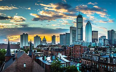 عکسی زیبا از نمای شهر بوستون در آمریکا