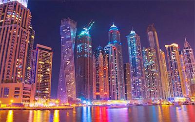 تصویری از شهر دبی در امارات