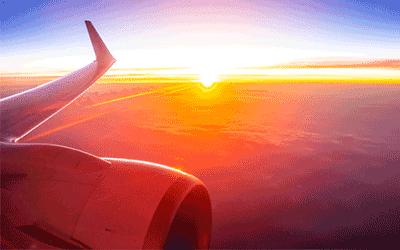 نمایی از داخل هواپیما