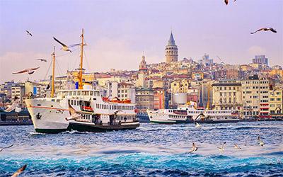 نمایی زیبا از ساحل شهر استانبول