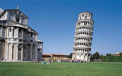 عکس برج کج پیزا در ایتالیا