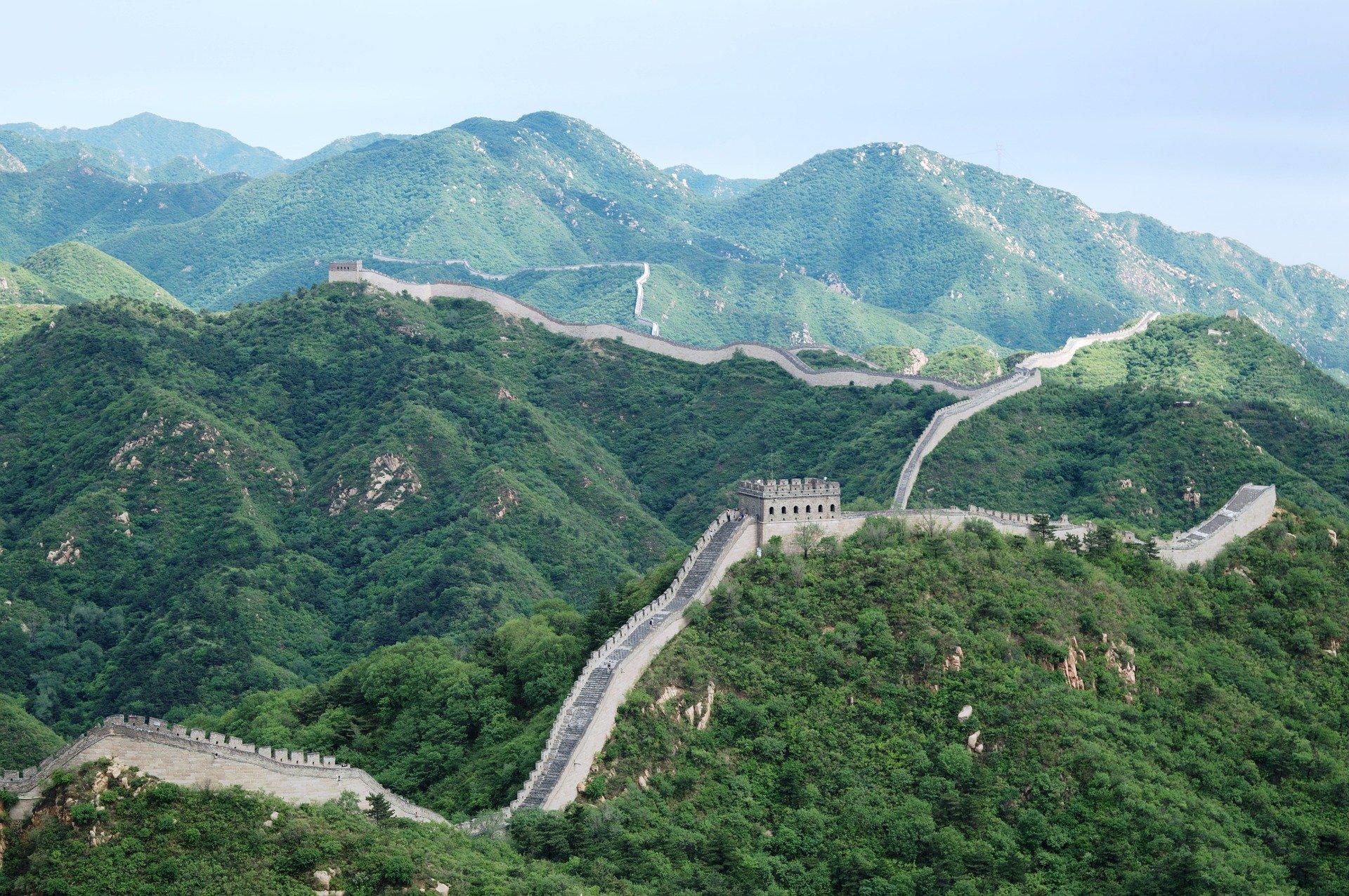 نمایی از دیوار بزرگ چین