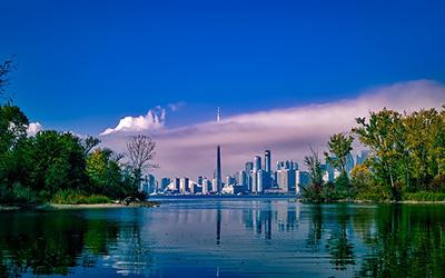 تصویر زیبایی از شهر تورنتو