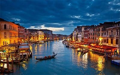 نمای زیبایی از شهر ونیز