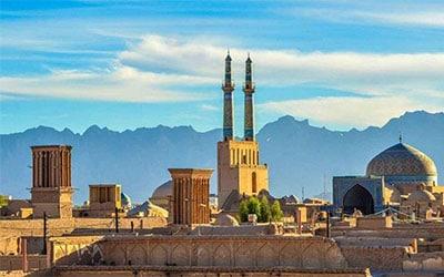 تصویر نمای مسجد جامع شهر یزد