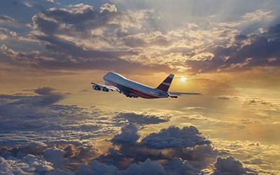 تصویر هواپیما در آسمان