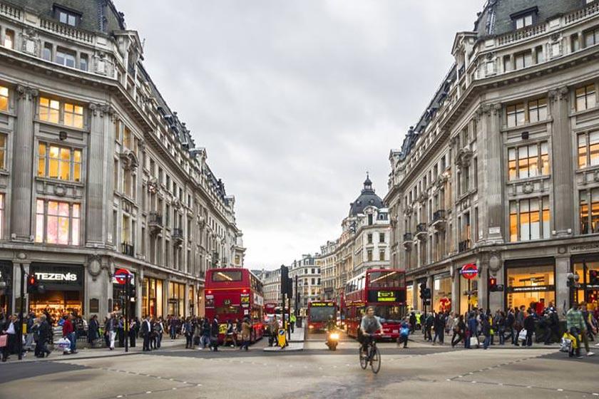 نمایی از یکی از خیابان های معروف لندن