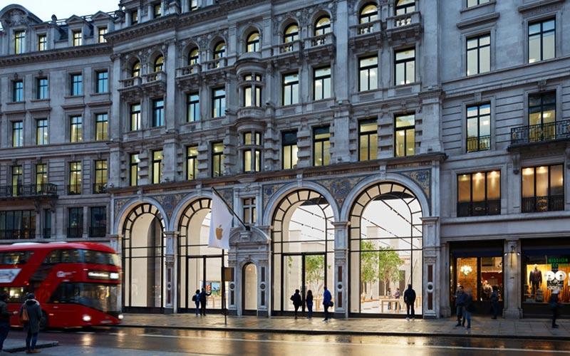 نمایی خارجی از اپل استور لندن