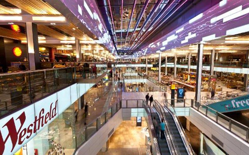 نمایی از مرکز خرید وستفیلد استراتفورد