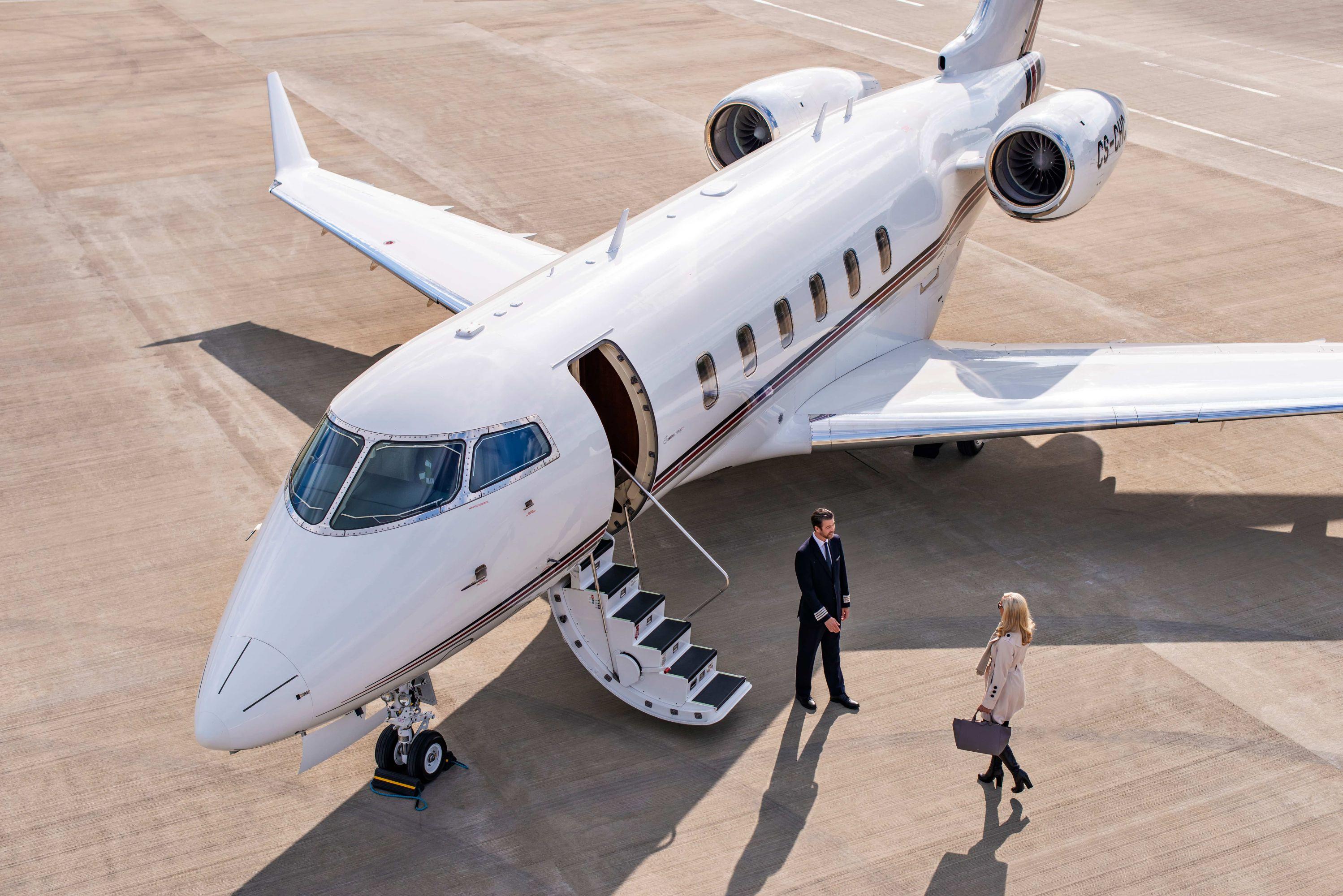 تجربه پرواز با جت خصوصی