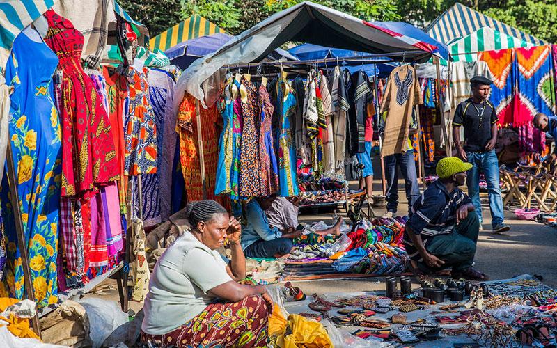 چشم اندازی از بازار سوغات نایروبی